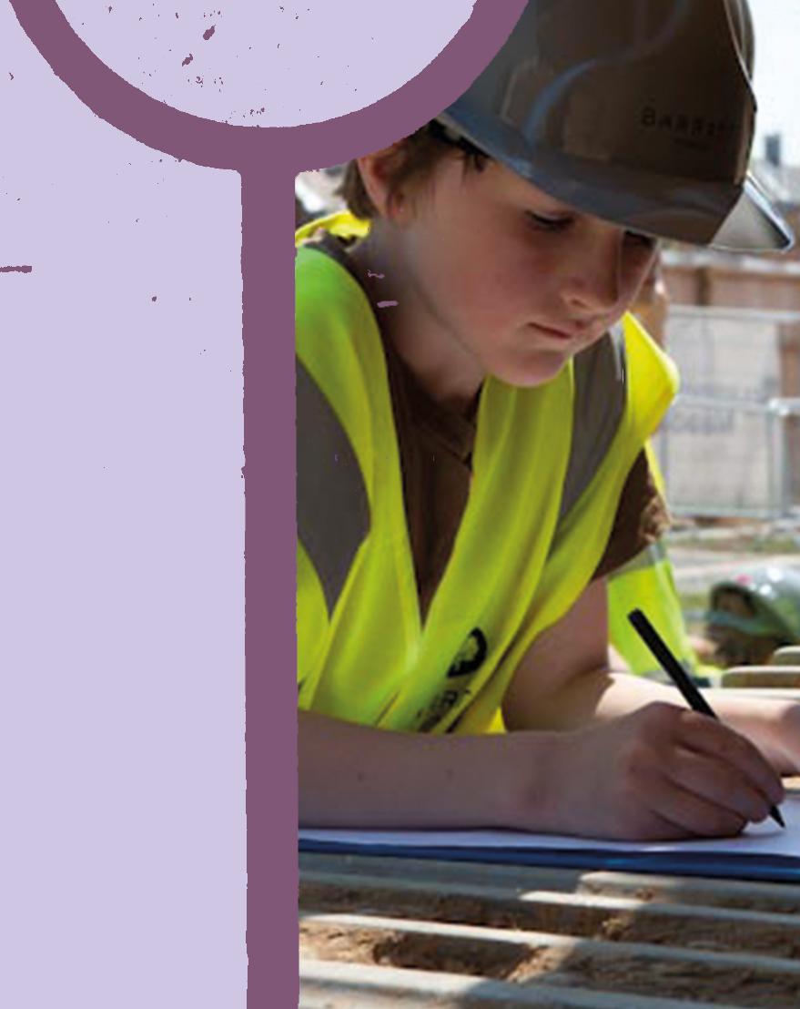 Trumpington Meadows Primary School construction site visit
